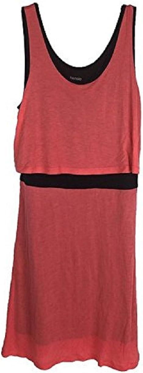 Kensie Womens Scoop Neck Colorblock Casual Dress Pink XS