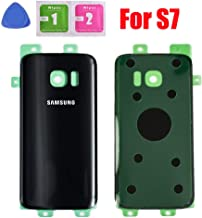 Back Glass Cover Battery Door Replacement for Samsung Galaxy S7 G930 (Black)