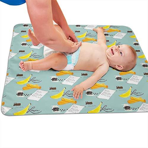 Banaan Chocolade Lumpia Blauw Gewatteerde Dikker Langer Waterdicht Veranderende Pad Liners voor Babies 31.5 X 25.5 inch