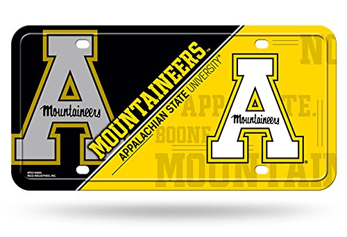 NCAA Rico Industries  Metal License Plate Tag, Appalachian State Mountaineers
