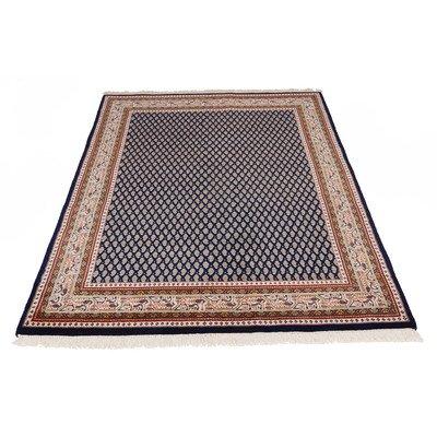 Handgeknüpfter Teppich Sarough Mir in Blau Teppichgröße: 250 x 350 cm