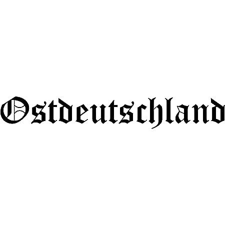 Unbekannt Aufkleber Sticker Ostdeutschland Geplottet Schwarz Osten Fußball Ca 19x4 Cm Autoaufkleber Tuning Jdm Auto
