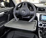 Kkone Support pour ordinateur, tablette à fixer au volant, tablette de travail pour voiture, SUV, camion - Gris