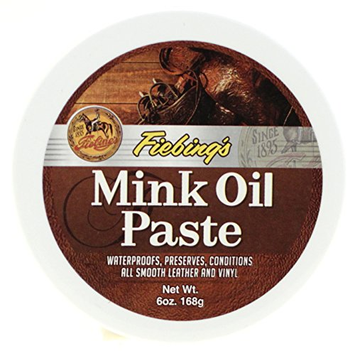 Fiebing's Mink Oil Paste, 6 Oz. - Softens, Preserves and Waterproofs Smooth Leather and Vinyl,One Size