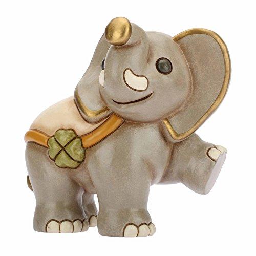 THUN ® - Elefante in Cammino - Animali Soprammobile da Collezione - Ceramica - I Classici
