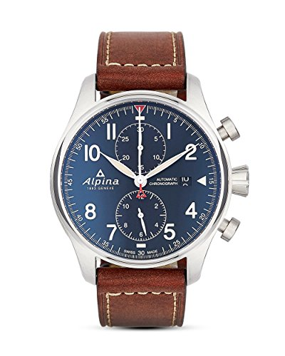 Alpina Startimer pilota automatico orologio, cronografo, al-725, blu,...
