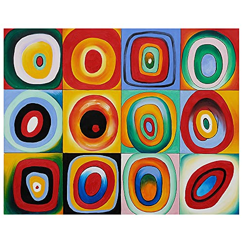 Legendarte Cuadro Lienzo, Impresión Digital - Prueba De Color - Wassily Kandinsky cm. 80x100 - Decoración Pared