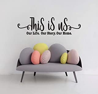 This is Us,Our Story,Our Life,Our Family Quote Wall Decal, Inspirational Saying Sticker for Bedroom Decoration, Family Love Sticker Home Wall Art