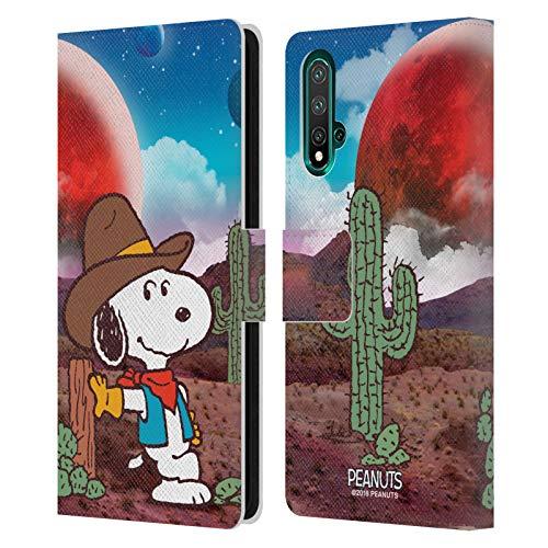 Officiële Peanuts Nebula Ranger Snoopy Space Cowboy Lederen Book Portemonnee Cover Compatibel voor Huawei Nova 5