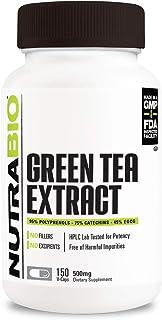 NutraBio Green Tea Extract (500 mg) (150 Capsules)