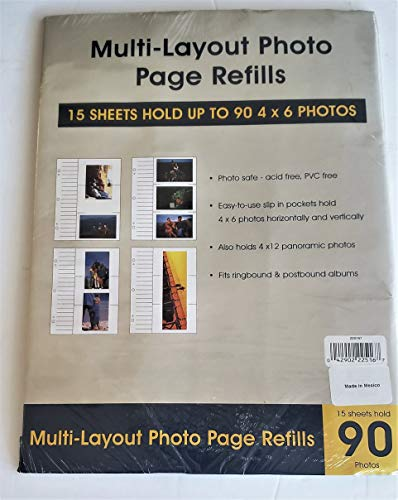 Genuine Holson/Burnes 4x6 Tri-Channel flex pages for Post-bound and 2 or 3 ring albums Our price is for 3 units - 4x6