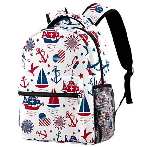 Mochila con patrón floral con flores azules y verdes para la escuela, mochila de viaje, informal, para mujeres, adolescentes, niñas y niños