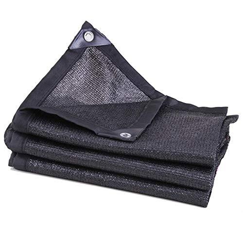 EastMetal Lona Impermeable Exterior Red de Sombra Lona de Protección con Ojales, para Muebles de JardíN, Piscina, Lona de ProteccióN Impermeable y Resistente a La Rotura Color Negro,3x4m