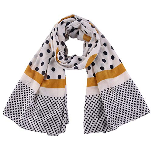 MYTJG Lady sjaal mode geel wit herfst zachte dunne sjaal dames strandhanddoek doek doek sjaal warm en comfortabel warm