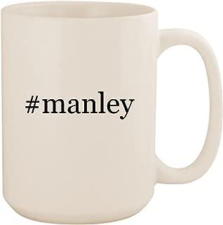 #manley - White Hashtag 15oz Ceramic Coffee Mug Cup