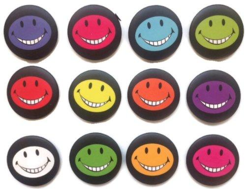 Emoticon divertida cara sonriente #3 impresionante calidad lote 12 nuevos pines botón insignia 3.2 cm