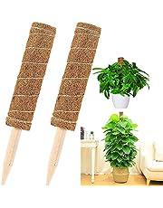 Klimplant Moss Pole Coconut Stick, Greenery Klimrek voor ondersteuning van tuinplanten