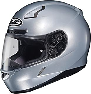 HJC CL-17 Full-Face Motorcycle Helmet (Silver, X-Large) (824-575)