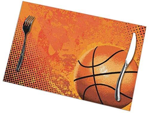 YJWLO Basketball3 Tischsets Set von 6 waschbar Wärmedämmung Tischsets Tischsets Deko