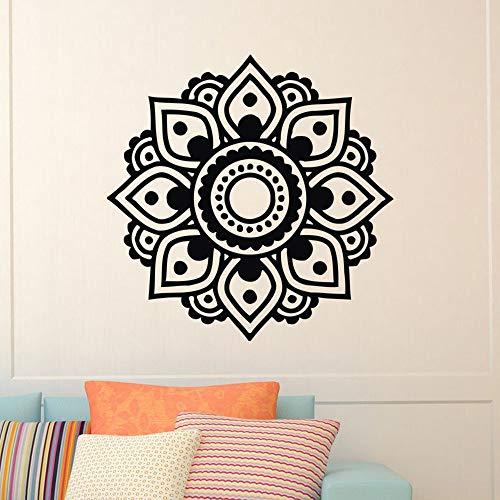 Mandala pegatina hogar sala de estar dormitorio arte decoración extraíble fondo mural pared papel autoadhesivo A2 42x42cm