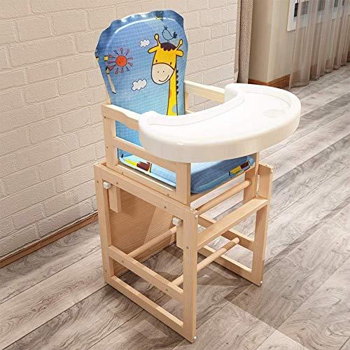 MUTANG Silla Alta de Madera con Bandeja, la solución tronas de bebé Ajustables para bebés y niños pequeños o como Silla de Comedor (Color : Style C)
