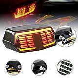 SODIAL Lampeggiatore Ultra-Sottile per Camion Fanale Posteriore Fanale Posteriore Un Luce Rossa con Stop 10-30V