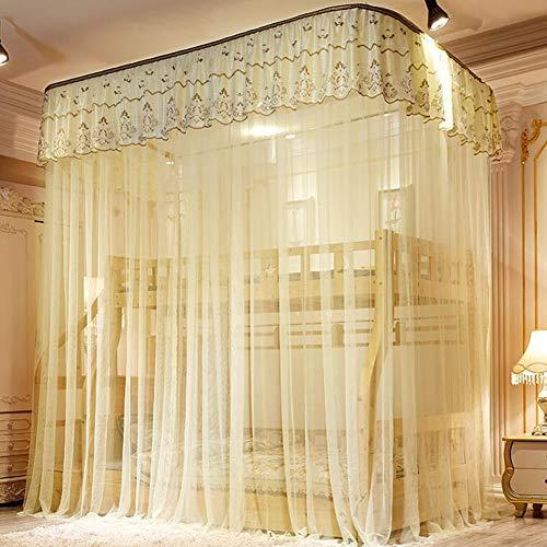 YONG 150 * 250Cm Decke Net Moskitonetz Idylle Spitze-Prinzessin Bett Schutz Markise Net, Doppeletagenbett Vorhänge Moskitonetz Bedding