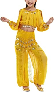 Kid Tribal Belly Dance Costume, Harem Pants & Top for Halloween