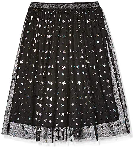 Amazon Brand - Spotted Zebra Kids Girls Maxi Tutu Skirt, Black Multi-Stars, Large