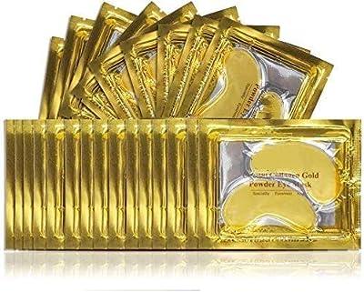 (25 Pairs) Crystal 24K Gold Powder Gel Collagen Eye Mask, Premium Anti Aging, Anti Wrinkle, Moisturiser for Under Eye Wrinkles, Remove Eye Bags, Under-eye, Dark Circles, Hydrating, Puffy Eyes from Gobesi