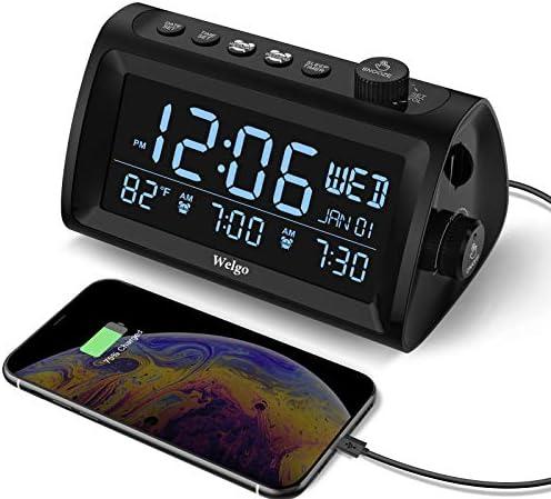 Welgo G2 Digital Dual Alarm Clock Radio with Weekday Weekend Mode Date Temperature Display 0 product image