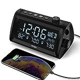 Welgo G2 Digital Dual Alarm Clock Radio with Weekday/Weekend Mode, Date/Temperature Display, 0-100% Dimmer, 7 Alarm...