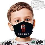 A-monG Us Kids 's Face Mas - Pañuelos transpirables con filtro de aire (2 piezas)