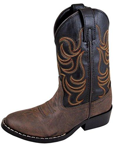 Smoky+Mountain+Children+Boys+Monterey+Western+Cowboy+Boots+BrownBlack+11M