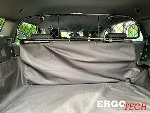 ERGOTECH Trennnetz Trenngitter für Ford Focus Turnier RDA65-XS8, für Hunde und Gepäck. Sicher, komfortabel für Ihren Hund, garantiert!