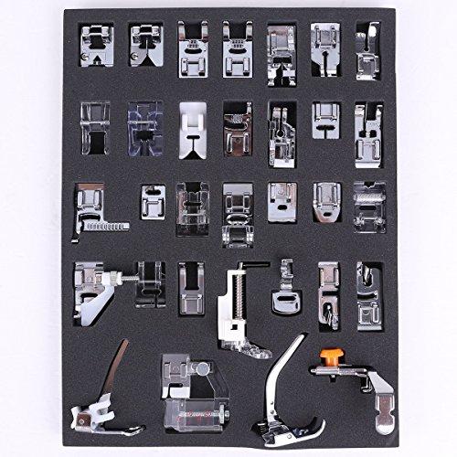 icase4u® Kit de 11/15 Piezas Multifuncional Prensatelas Accesorios para Máquina de Coser Presser Foot Feet Kit Machines Set (Kit de 32 Piezas)