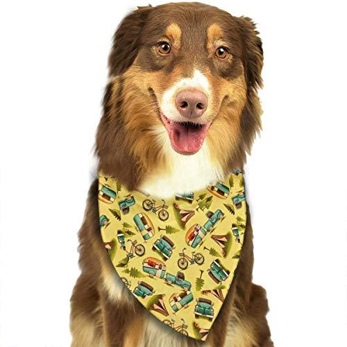 Leuke grappige huisdier sjaal gelukkig auto en fiets camper verstelbare huisdier bananen kraag driehoek halsdoek