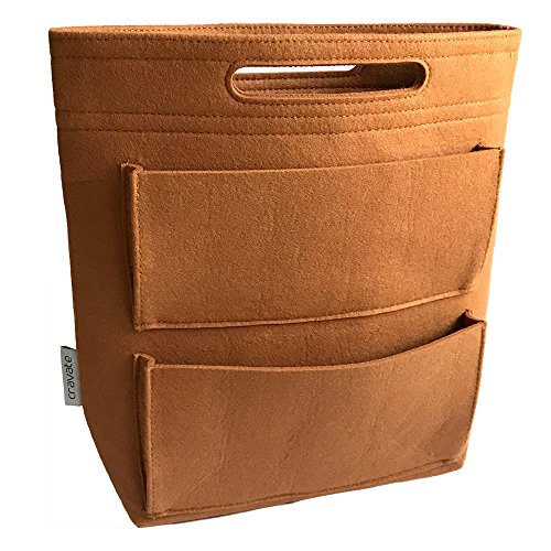 cravate バッグインバッグ ロングタイプ リュック用インナーバッグ キャメル