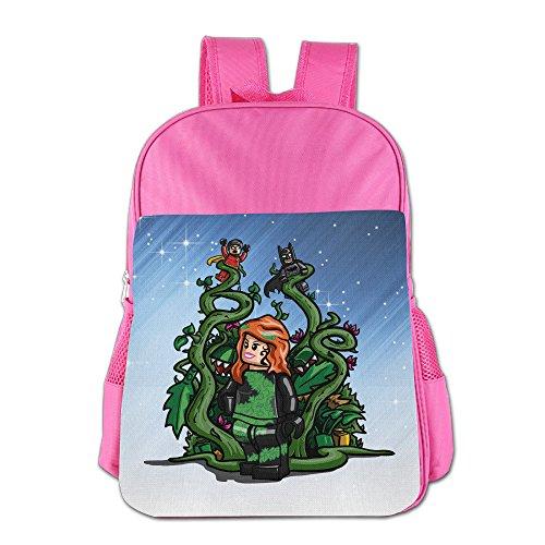 Fuoalf Poison Ivy ragazza bambini, ragazzi e ragazze borsa a tracolla scuola zaino, unisex, Pink