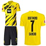 PUMA Borussia Dortmund BVB Heimset 2020 2021 Home Kit Sponsor BL Logo Kinder Jadon Malik Sancho 7 Gr 140