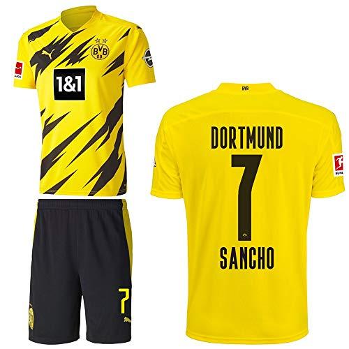 PUMA Borussia Dortmund BVB Heimset 2020 2021 Home Kit Sponsor BL Logo Kinder Jadon Malik Sancho 7 Gr 152