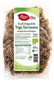 PASTA FUSILLI de trigo sarraceno SIN GLUTEN Ecológico. Caja 4 bolsas de 500g. El Granero.