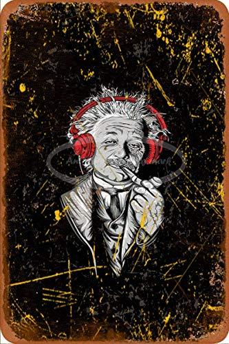 HONGXIN Einstein I need some rock music Vintage-Blechschild für Zuhause, Bar, Kneipe, Garage, Dekoration, Geschenke, Band, Bier, Eier, Kaffee, Supermarkt, Bauernhof, Garten, Schlafzimmer