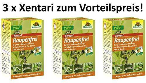Raupenfrei Xentari gegen Buchsbaumzünsler und Anderen Raupen 3 x 25 g