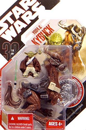 Yoda with Kybuck TAC32 Star Wars 30th Anniversary Saga Legends Collection 2007 Hasbro