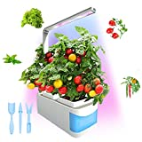 CHEE MONG Smart idroponici Herb Garden Lights, Suitable for all Plants, Kit Mini Growing Plant LED Light, AS Desk Lamp for Your Reading Lights - Seeds Not Included - (Blue)