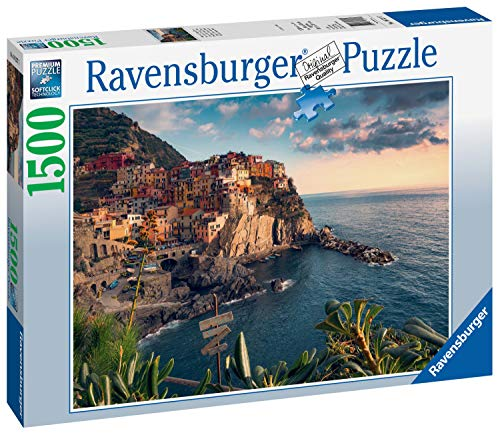 Ravensburger 16227 Cinque Terre Viewpoint - 1500 Piece Puzzle for Adults, Every Piece is Unique, Softclick Technology Means Pieces Fit Together Perfectly