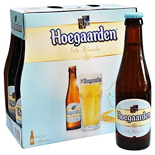 Original belgisches Bier- HoegaardenWeißbier 8 x 25 cl. Für BBQ, Karneval und Party!!