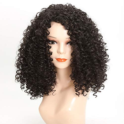 LQG Wave Wig Small Curly Wave Fluffy Natural Synthetic Hair Wig Cosplay Party Wigs for Women Daily False Hair
