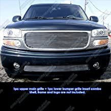 APS Compatible with 2001-2006 GMC Yukon Denali 1999-2002 Sierra Billet Grille Combo G61074A